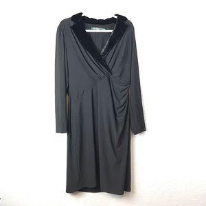 Lauren by Ralph Lauren Velvet Collar Dress 16 EUC